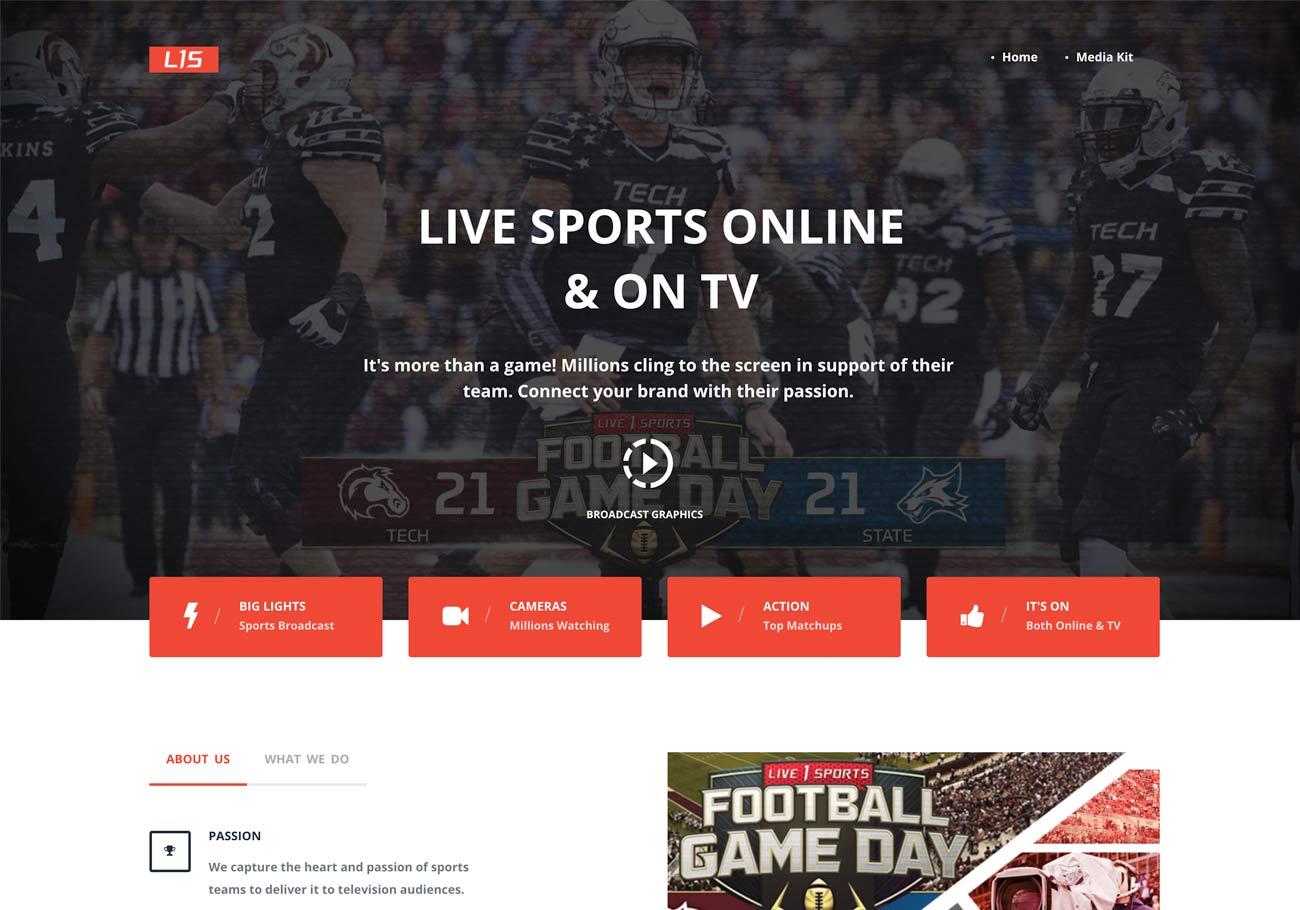 Portfolio-Live_1_Sports-Homepage
